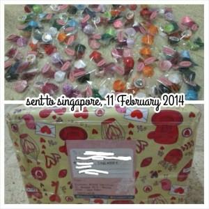kreswanti brooch sent to singapore Kiriman Bros Ke Singapura