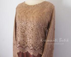 jual baju gamis femina gaun pesta pengantin muslimah modern coklat3
