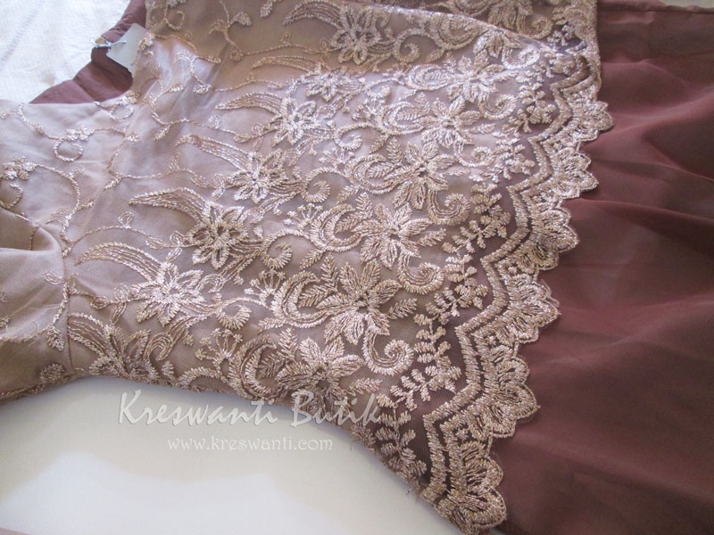 jual baju gamis femina gaun pesta pengantin muslimah modern coklat4