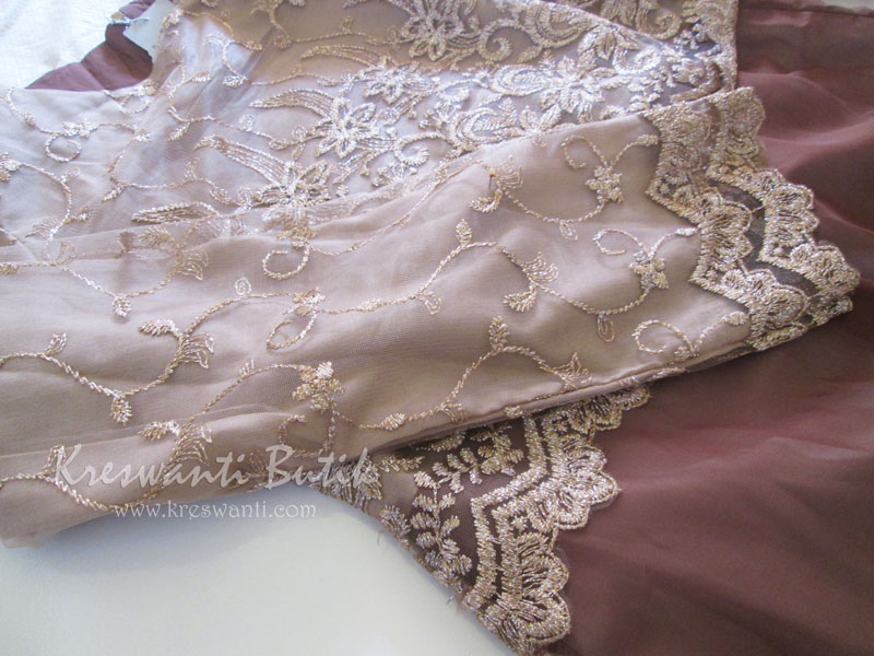 jual baju gamis femina gaun pesta pengantin muslimah modern coklat5