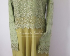 jual baju gamis femina gaun pesta pengantin muslimah modern hijau2