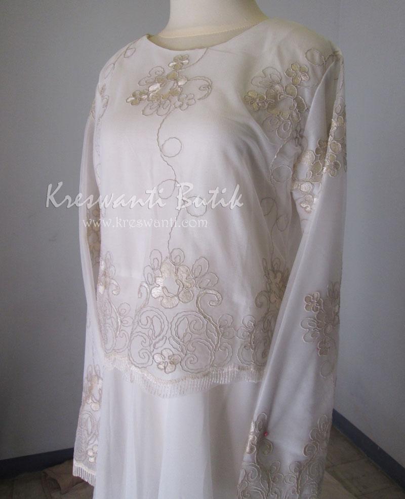 jual baju gamis femina gaun pesta pengantin muslimah modern putih2