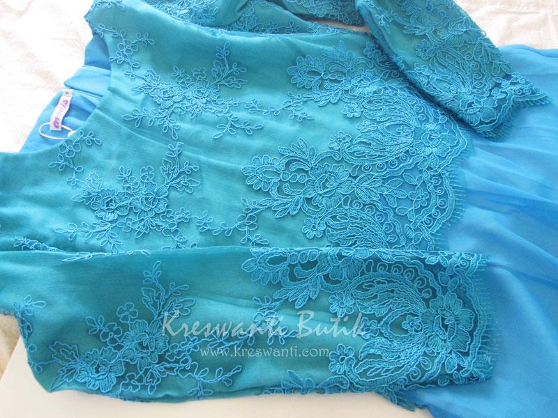 jual baju gamis modis gaun pesta pengantin muslimah modern biru tosca3