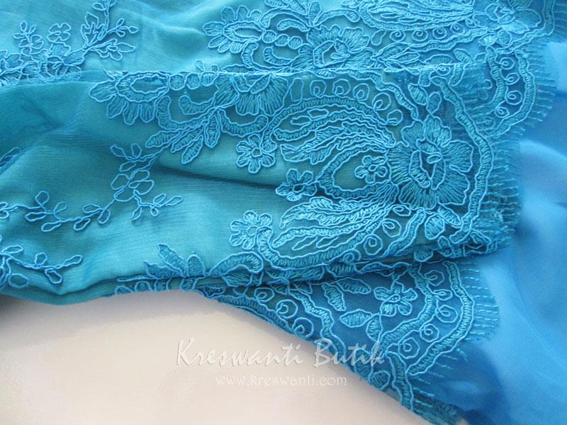 jual baju gamis modis gaun pesta pengantin muslimah modern biru tosca4
