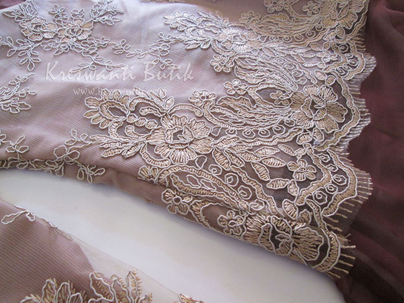 jual baju gamis modis gaun pesta pengantin muslimah modern brown4