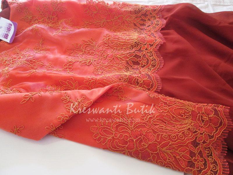 jual baju gamis modis gaun pesta pengantin muslimah modern orange4