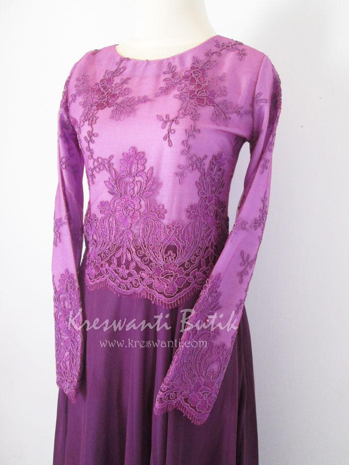 jual baju gamis modis gaun pesta pengantin muslimah modern violet2