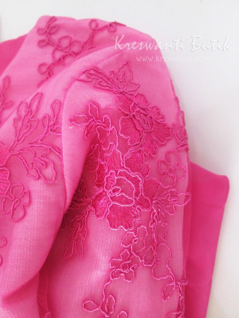 jual baju gamis pesta modern gaun pesta pengantin muslimah modern modis tampak detail
