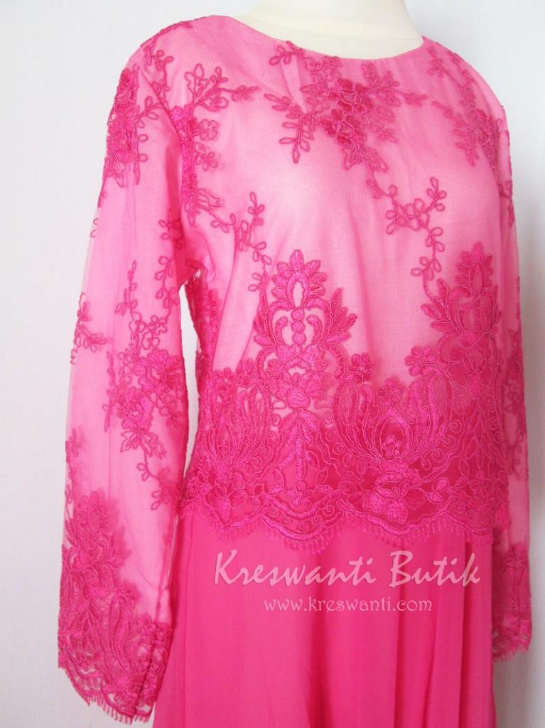 jual baju gamis pesta modern gaun pesta pengantin muslimah modern modis tampak samping kanan