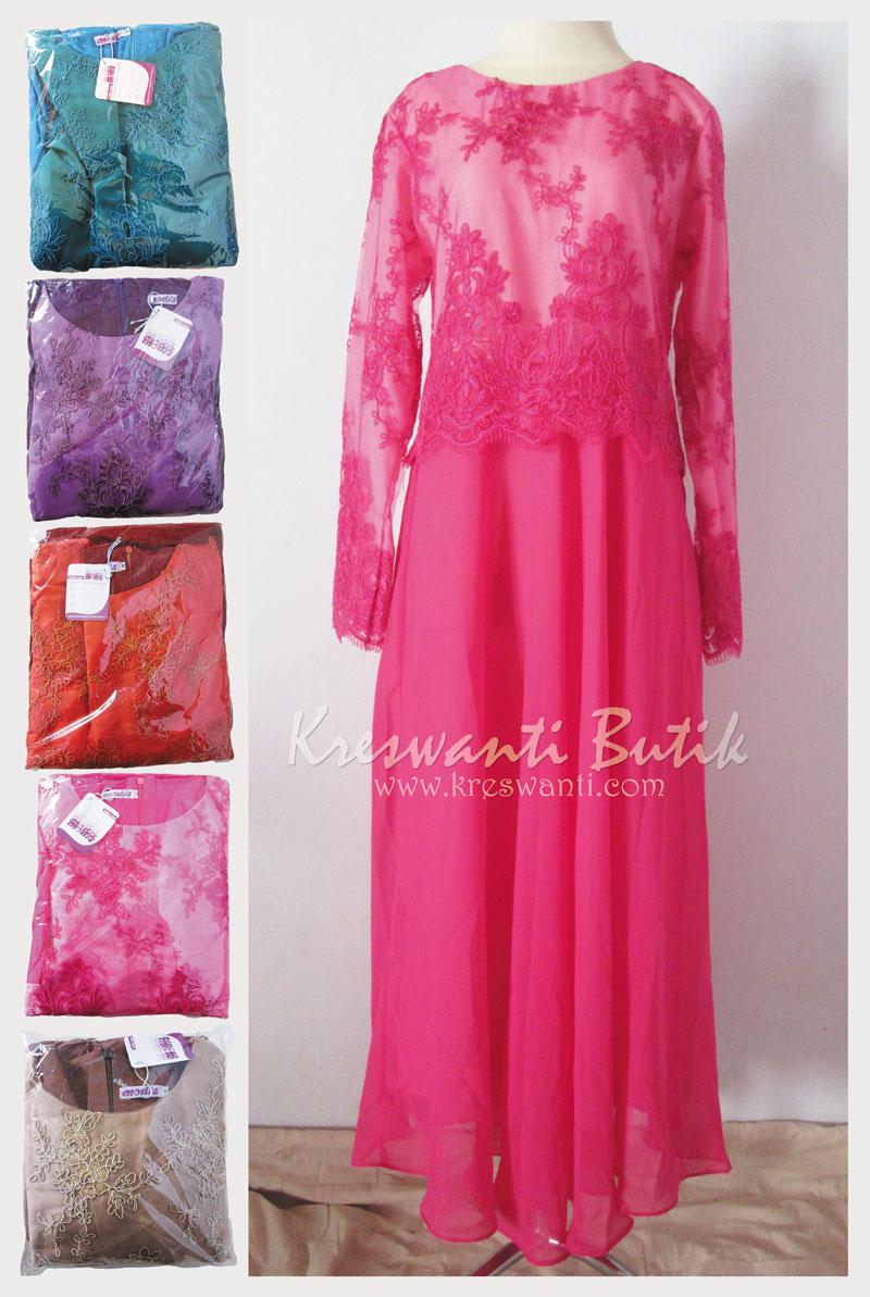 jual baju gamis pesta modern gaun pesta pengantin muslimah modern modis full pilih warna