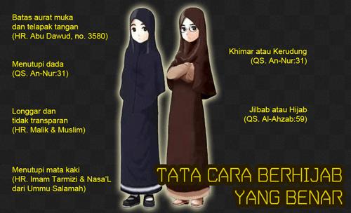 tata cara ber hijab jilbab yang benar syari