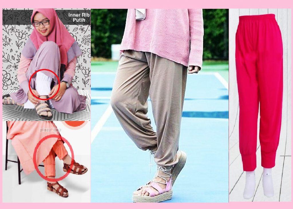 celana legging muslimah, celana wudhu