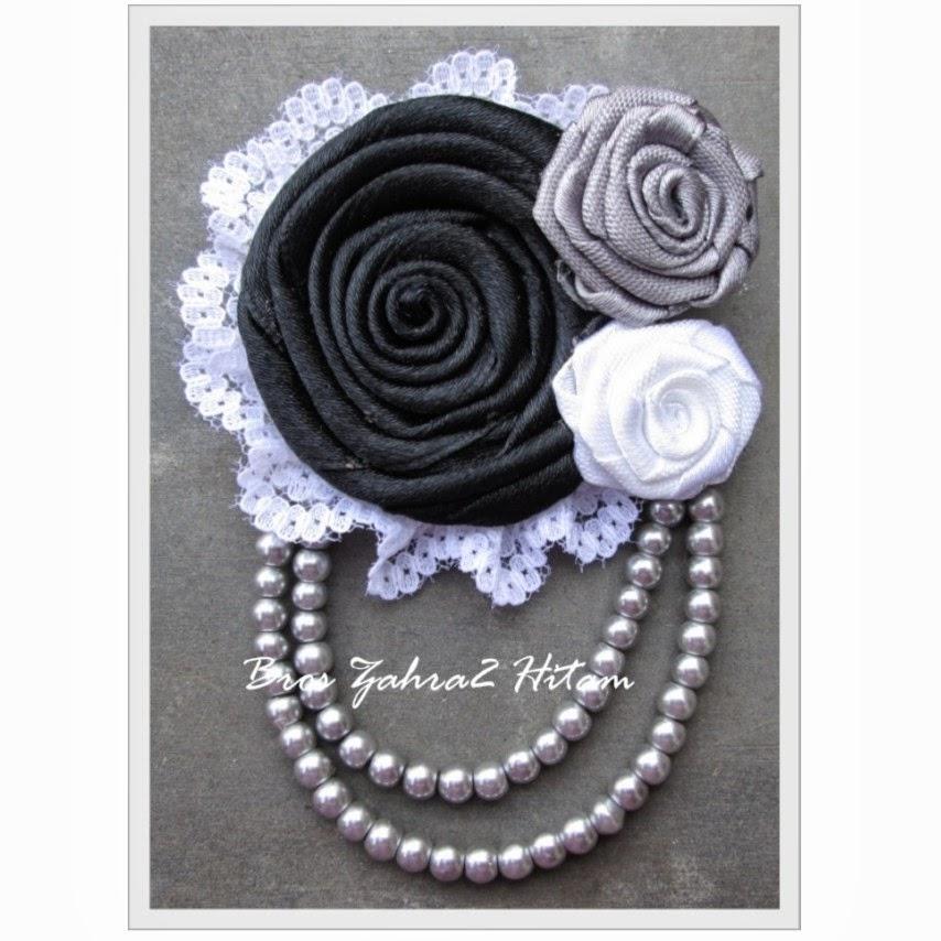 bros zahra hitam bros kain bros cantik bros jilbab kreswanti brooch