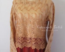 jual baju gamis femina gaun pesta pengantin muslimah modern coklat bata2