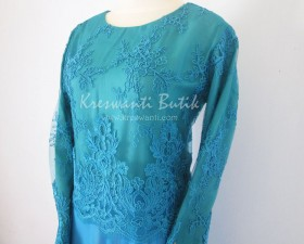 jual baju gamis modis gaun pesta pengantin muslimah modern biru tosca2