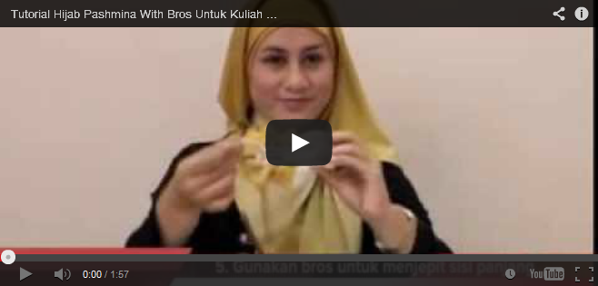video tutorial jilbab pashmina segi empat bros kreswanti brooch