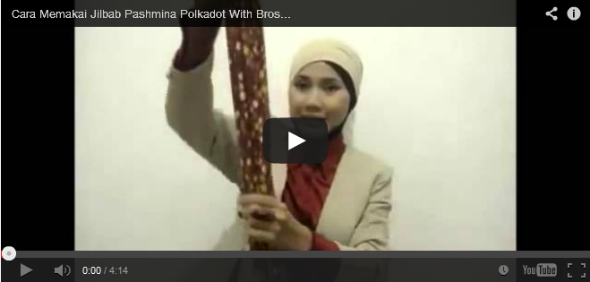 video tutorial jilbab pashmina polkadot bros kreswanti brooch
