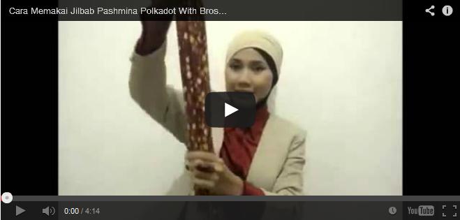 video tutorial jilbab pashmina polkadot bros kreswanti brooch